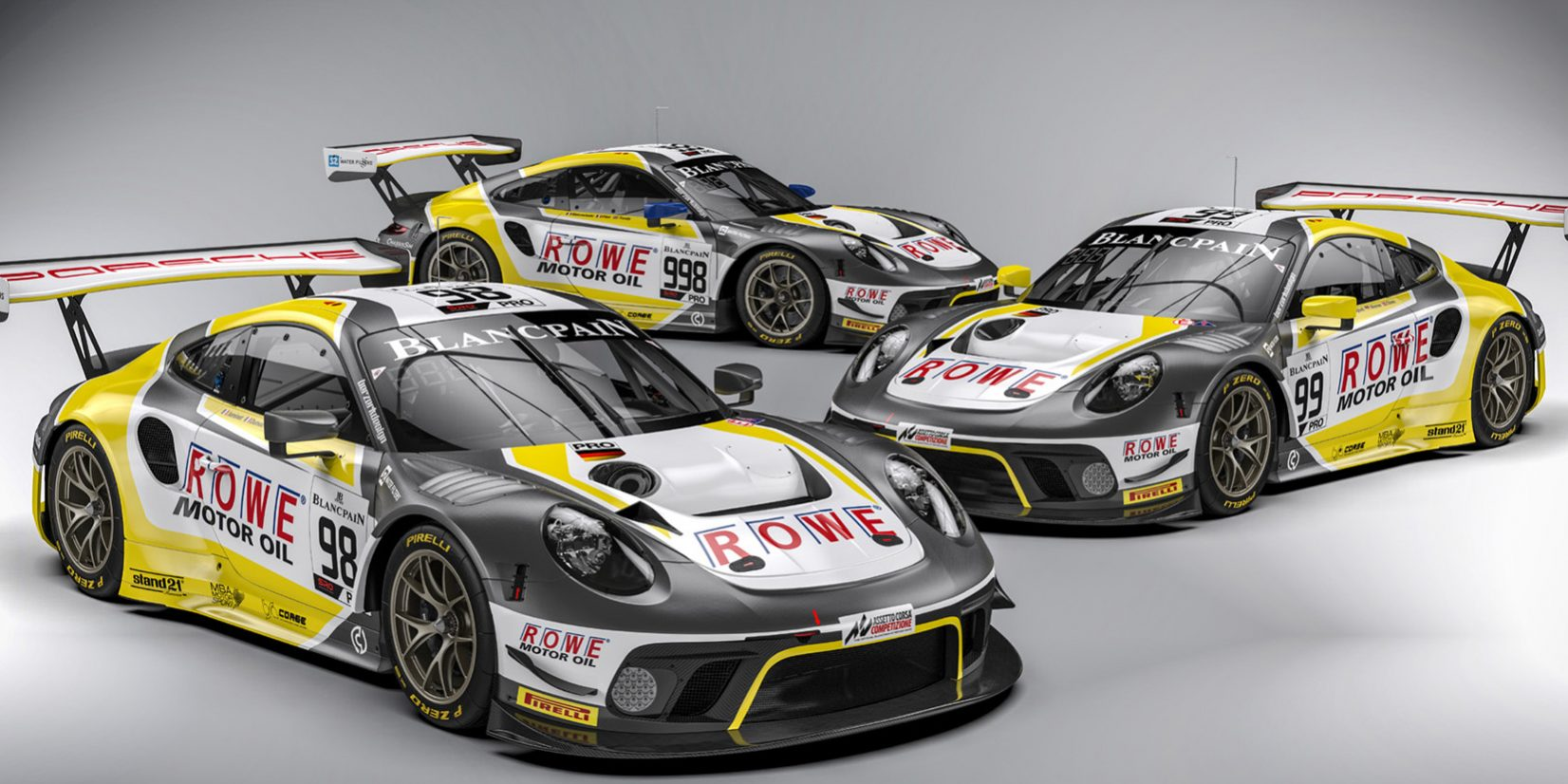 Rowe Racing To Field Three Porsche 911 Gt3 Rs At The 24 Hours Of Spa On The Last Weekend In July Rowe Racing Mcg Ag